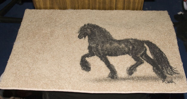 Ordinaire Friesian Horse Doormat   $20